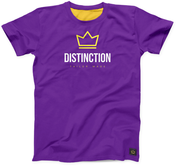 Logo on purple tshirt