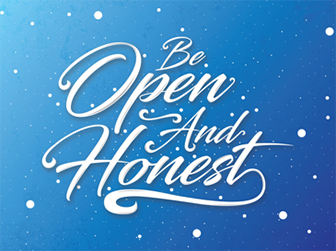 Illustrated values poster: Be open and honest