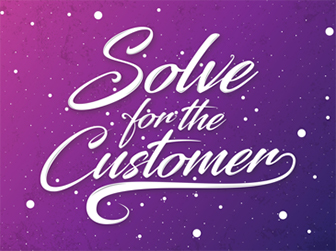 Illustrated values poster: Solve for the customer