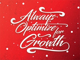 Illustrated values poster: Always optimize for growth