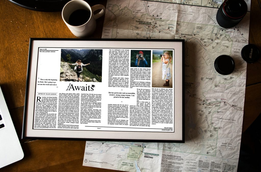 FeatureMe-News Article-map-coffee-frame-custom stories-article