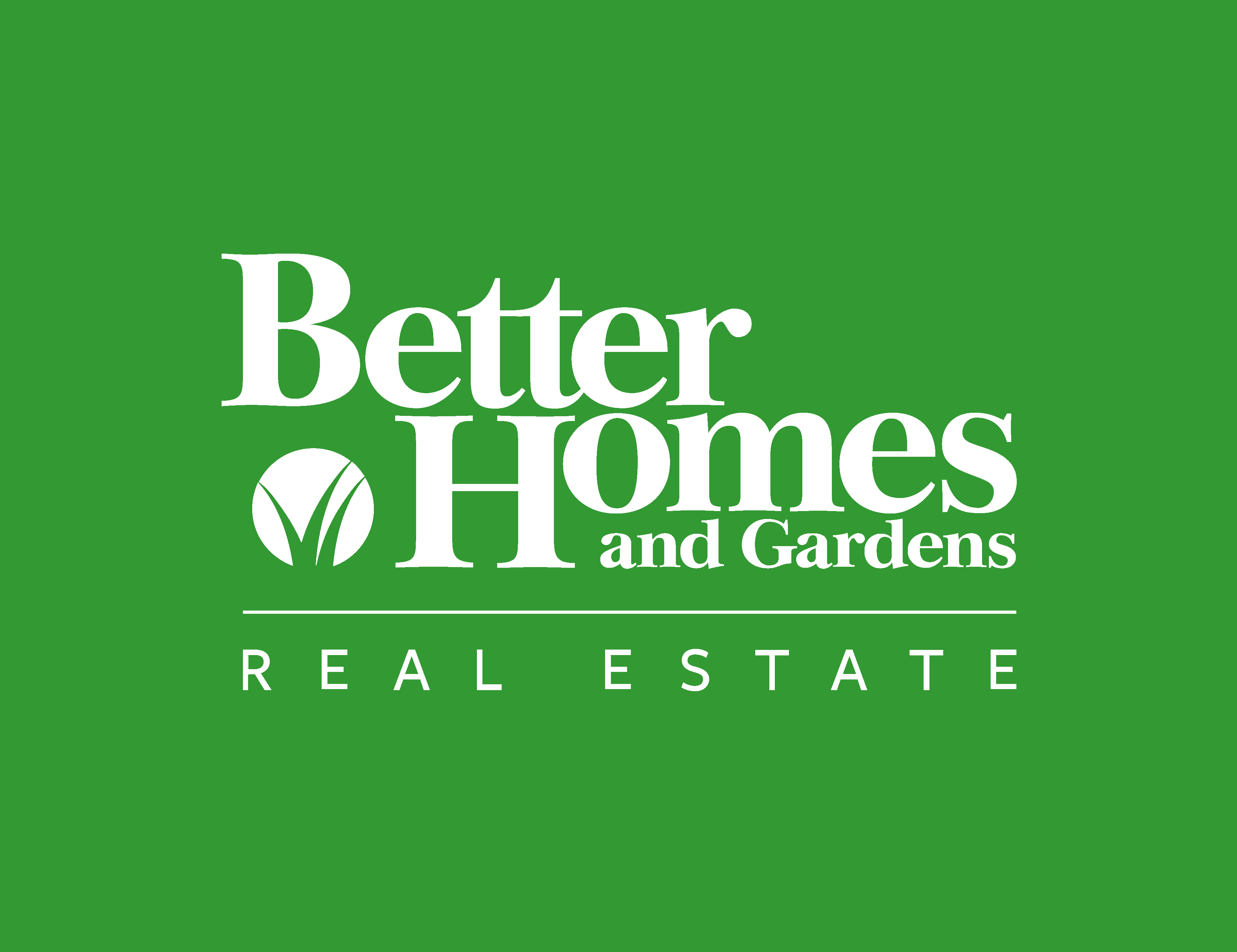 Better Homes And Gardens Logo Real Estate Company Grass Symbol Custom Design
