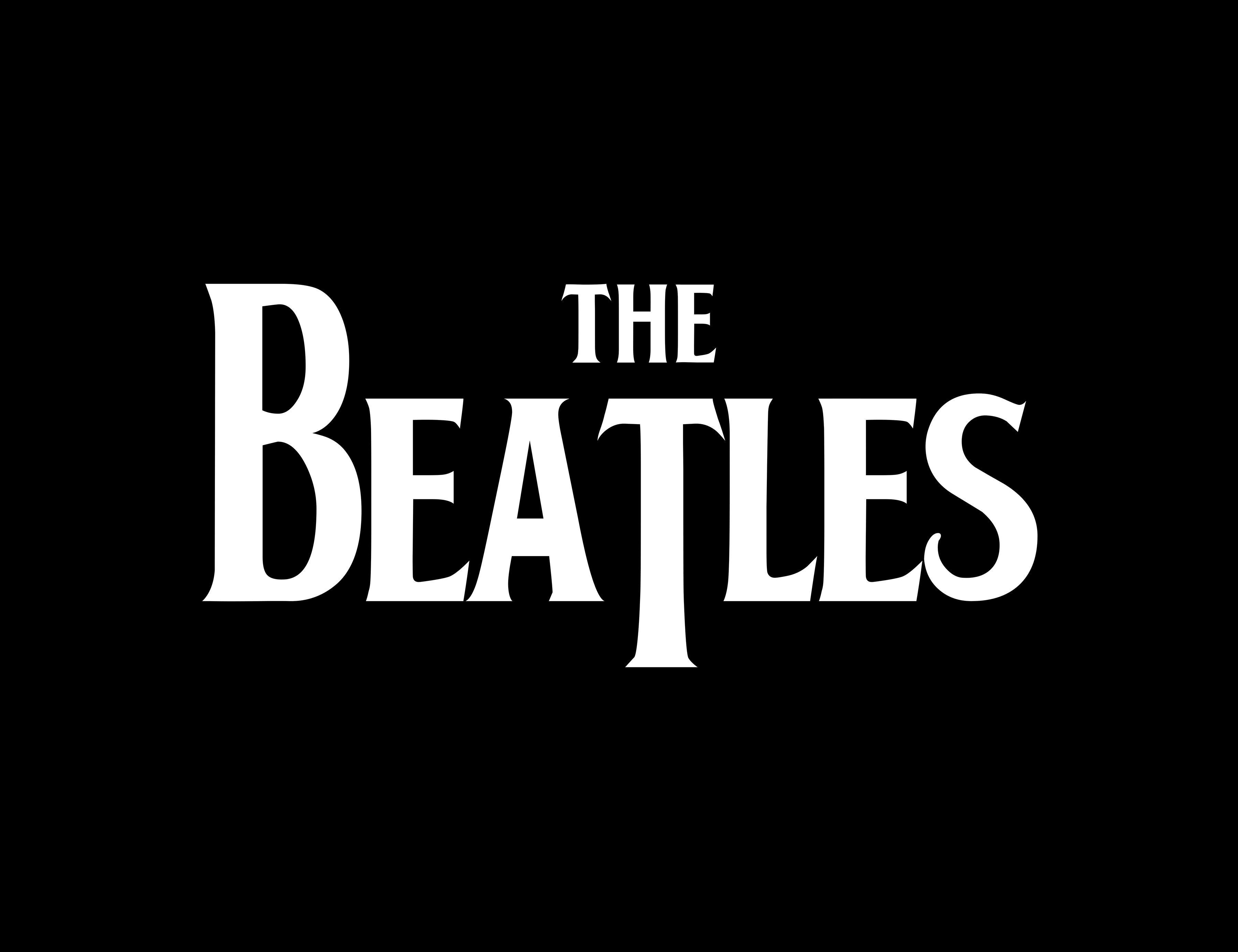 The Beatles Logo Custom Font English Rock Band Music Brand