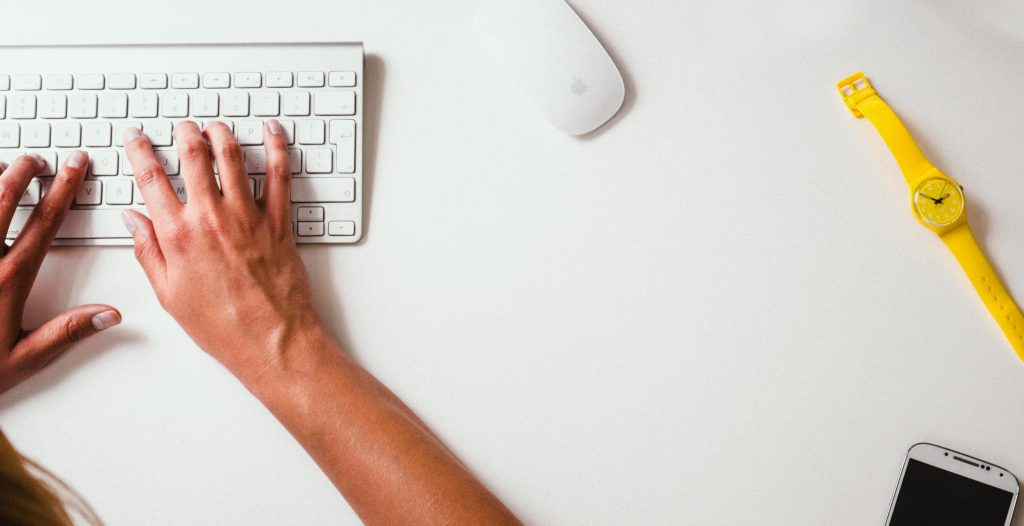 best practices for web design-tips from experts-hands typing