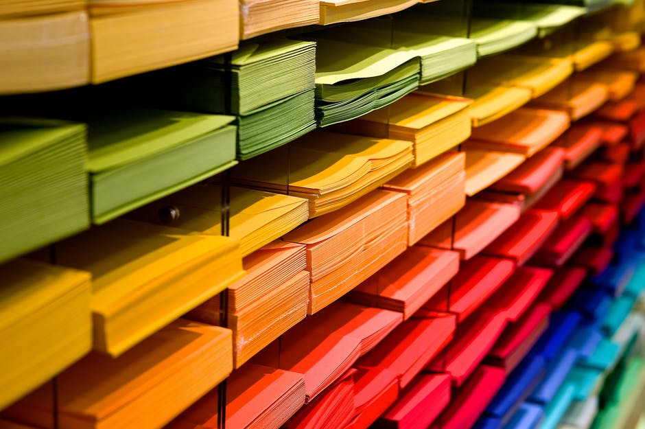 photo of colored paper