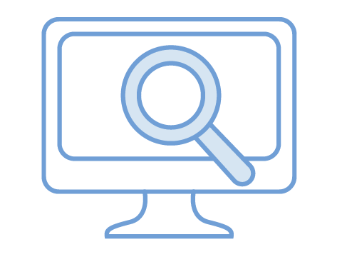 Computer search illustration