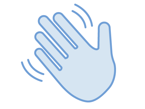 Waving hand illustration