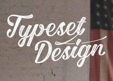 Typeset design logo