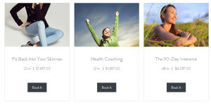 TruBody coaching package service pricing