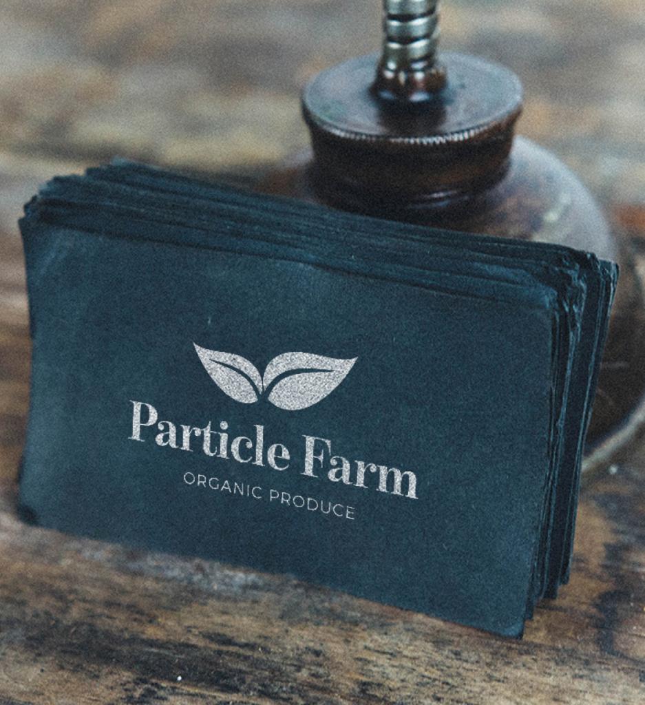 particle farm logo design