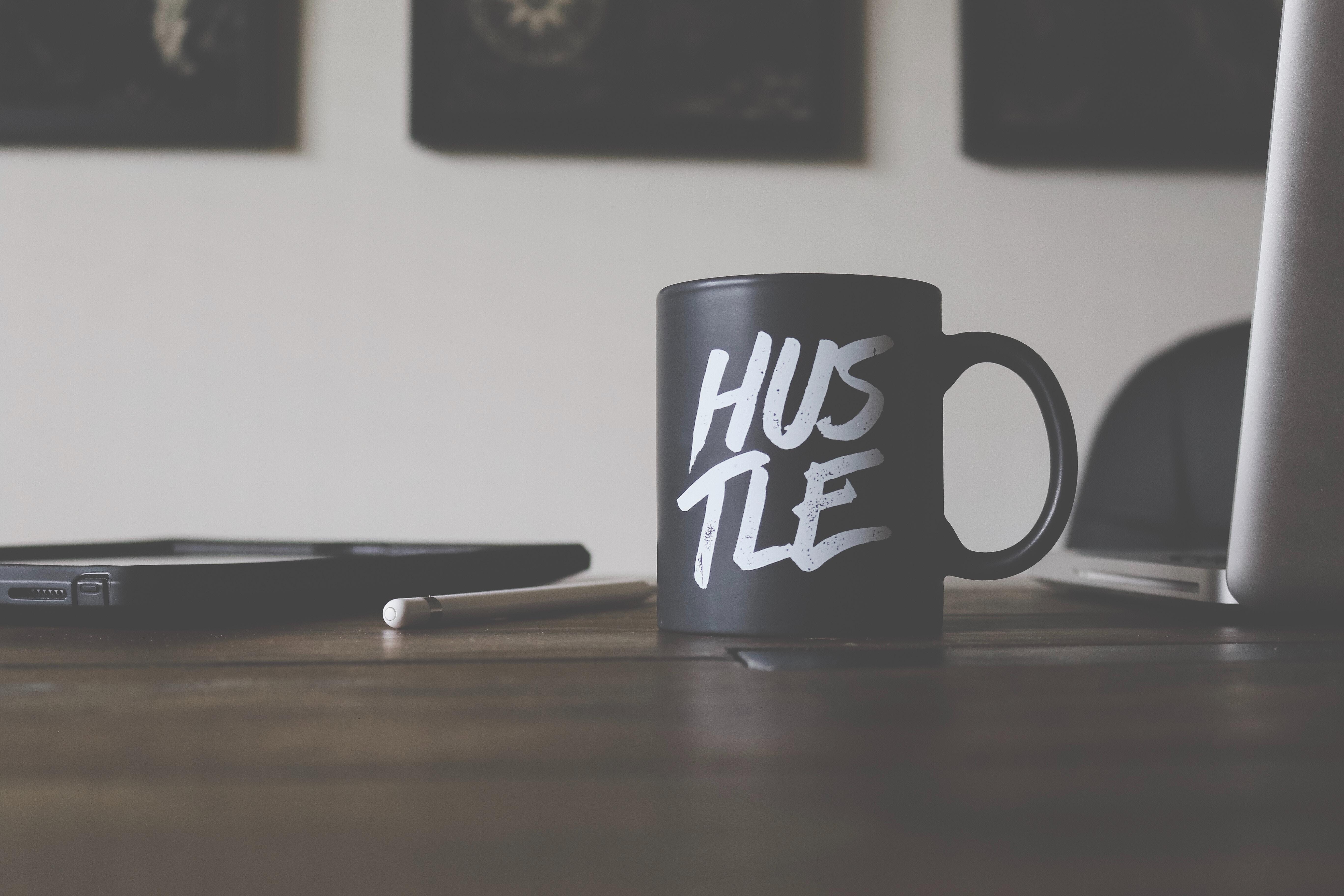 Freelance work. Side hustle mug.