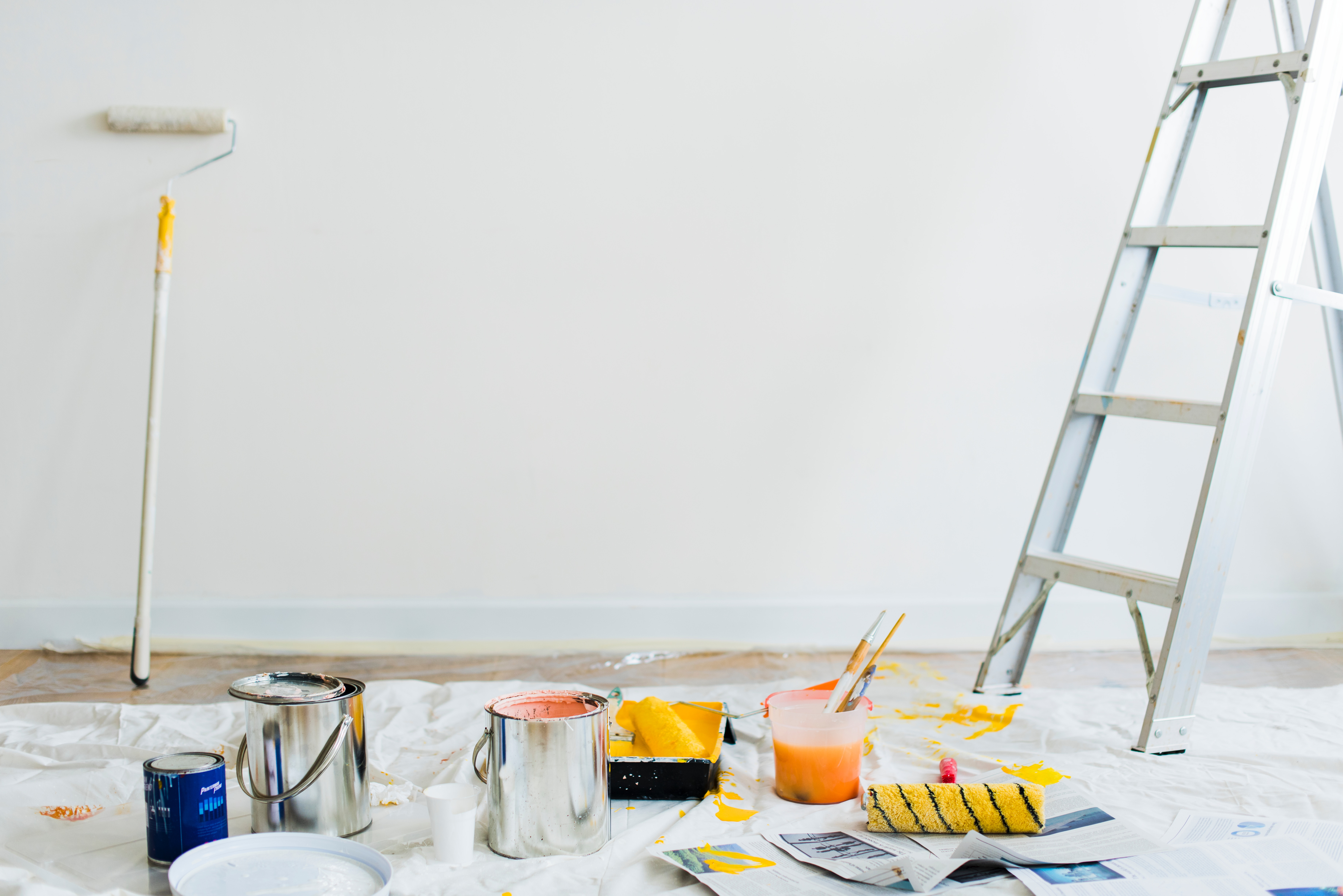 Ladder and paint. Sell repair and renovation services online.