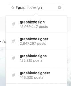 Hashtags on Instagram