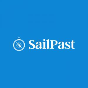 Blue and white logo design