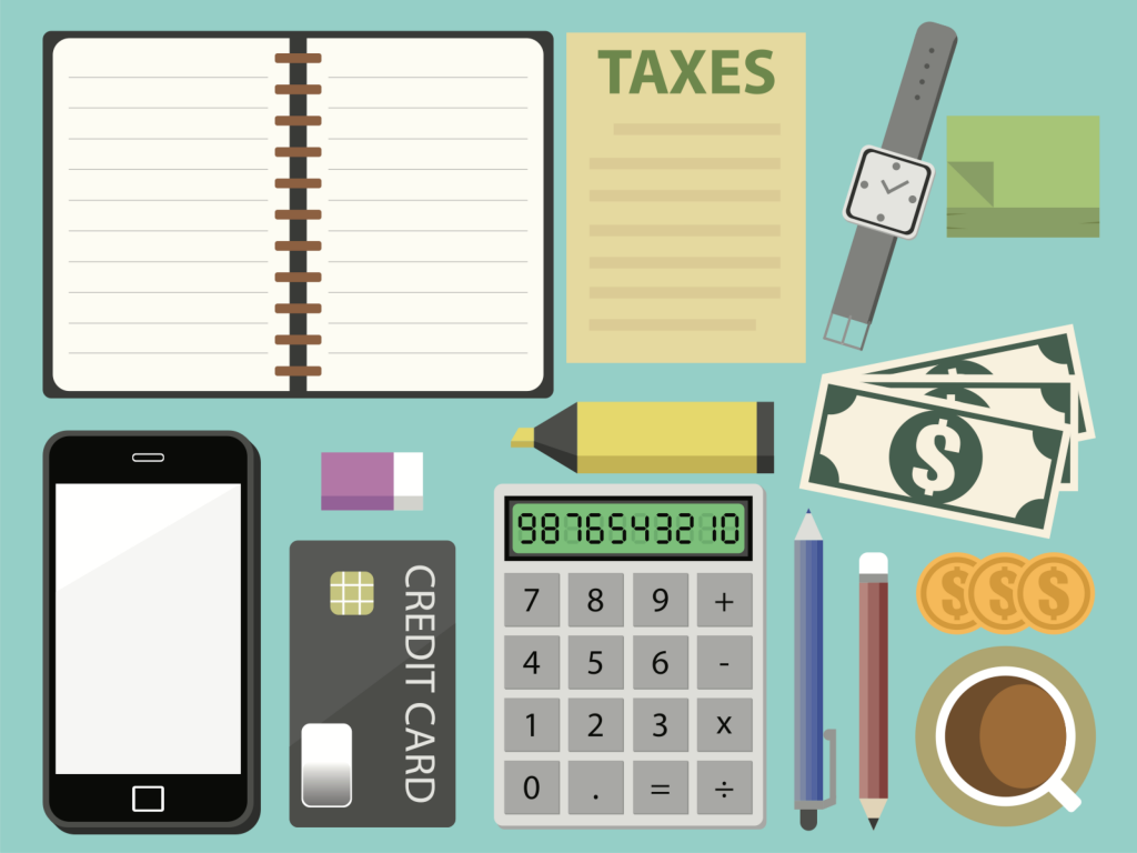 Bookkeeping Business Ilration Of Busy Desk