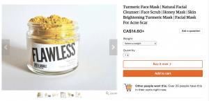 tumeric ecommerce business ideas