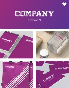 Branded assets with brand guidelines