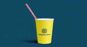 Logo on a paper cup