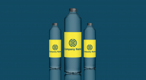 Logo on water bottles