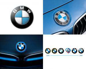 BMW circle logo design.