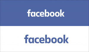 Facebook wordmark logo with color variations.