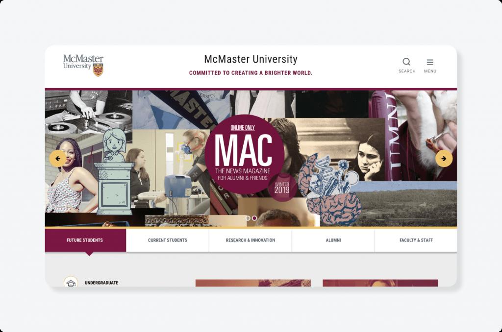 McMaster website logo