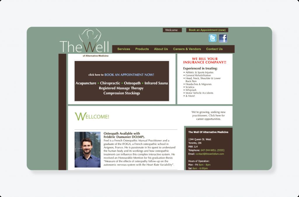 The Well website logo