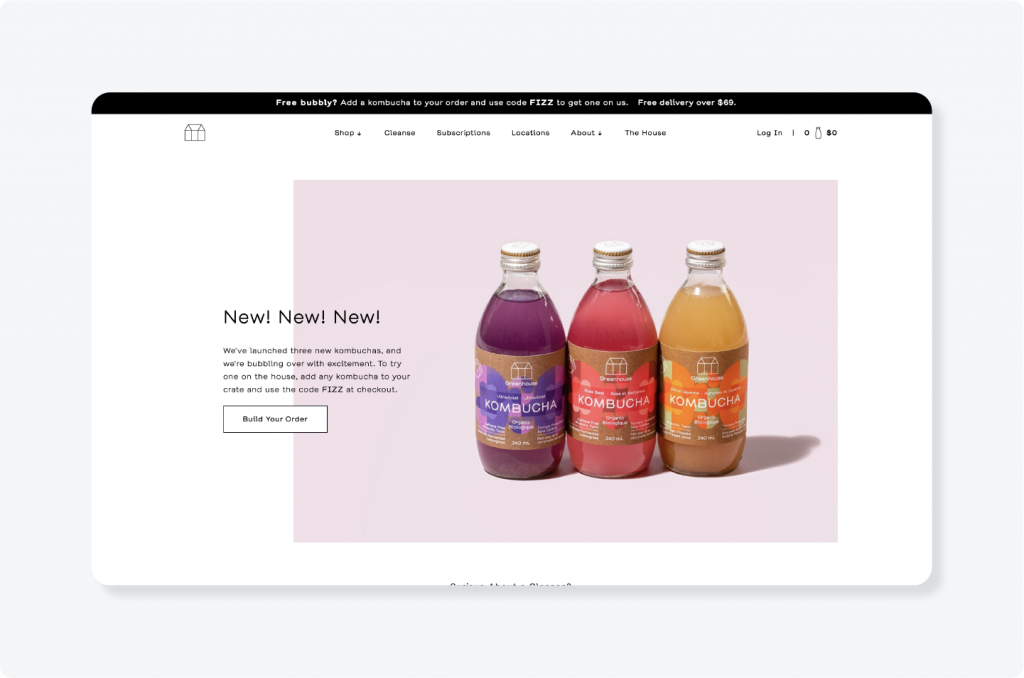 Greenhouse Juice website logo