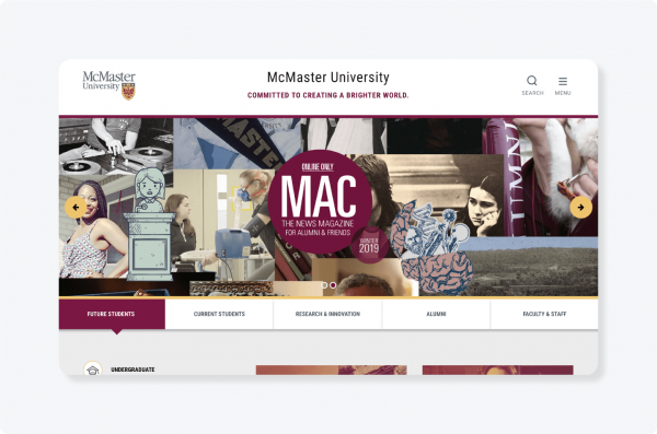 McMaster University website logo