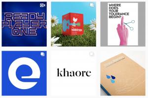 Pentagram Instagram logo inspiration