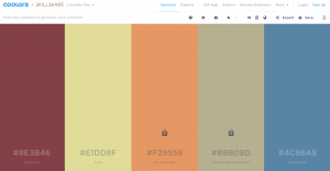 Coolors color inspiration tool