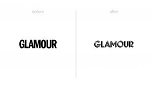 Glamour magazine logo redesign