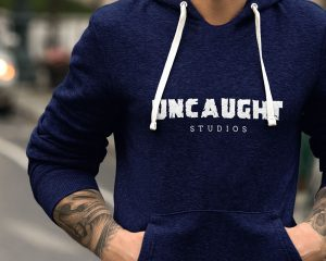 Uncaught studios logo on hoodie - importance of logos