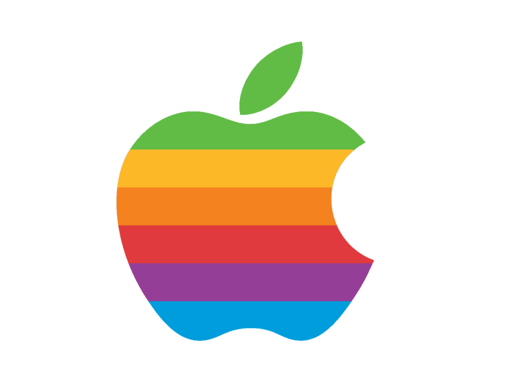 Apple logo from the 90s.