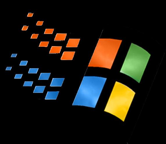 Microsoft Windows logo from the 90s.