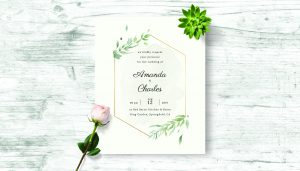 Font pairing on wedding invite
