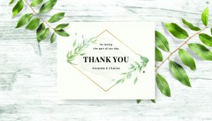 Font pairing on thank-you card