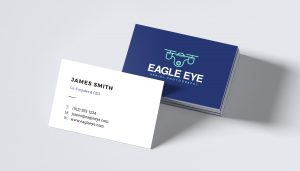 Font pairing on business card