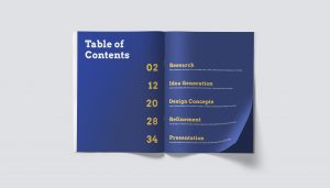 Font pairing in table of contents