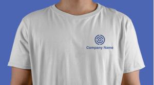 Logo printed on a T-shirt