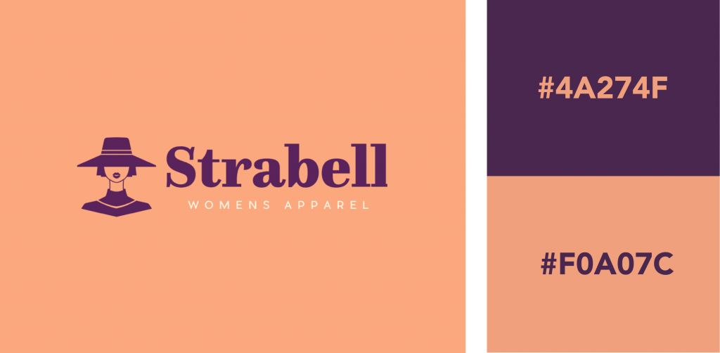 Orange and Purple Color Combination Logo