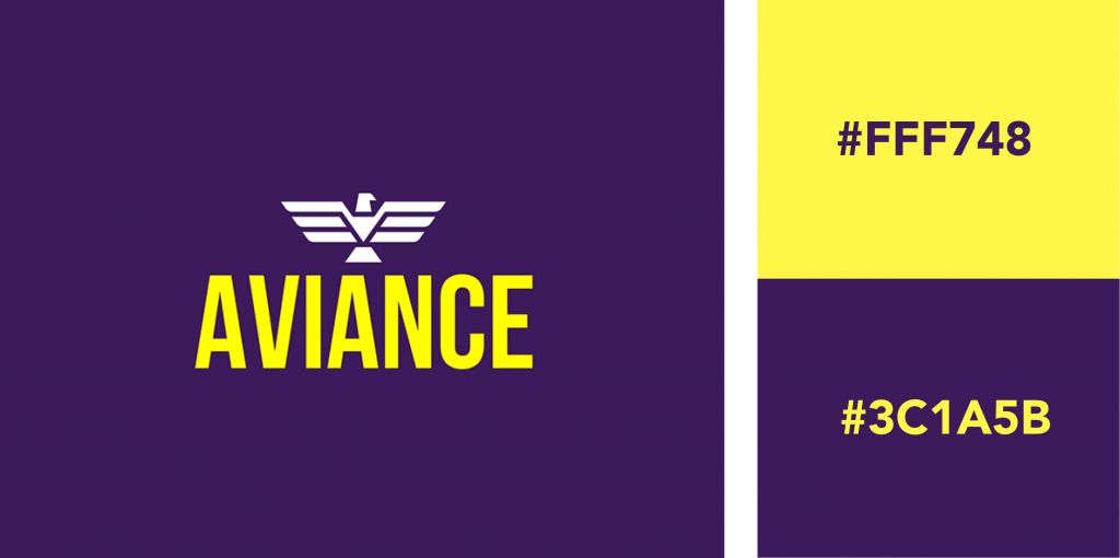 Purple Yellow Logo Color Combination