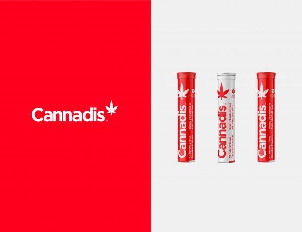 Cannadis logo on cannabis branding