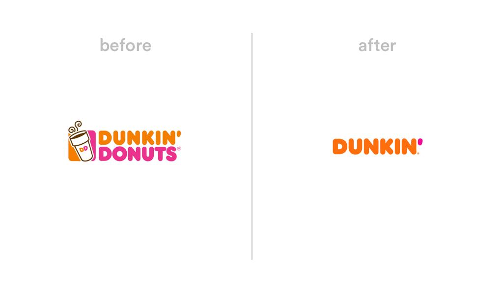 Dunkin Donuts logo redesign