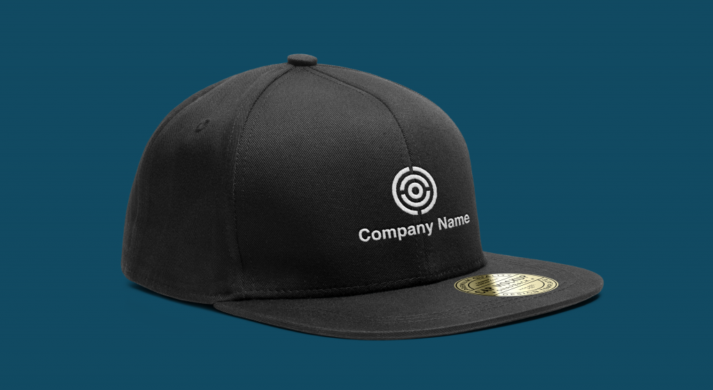 Transparent background logo on black hat