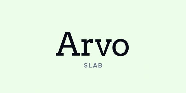 arvo slab serif example