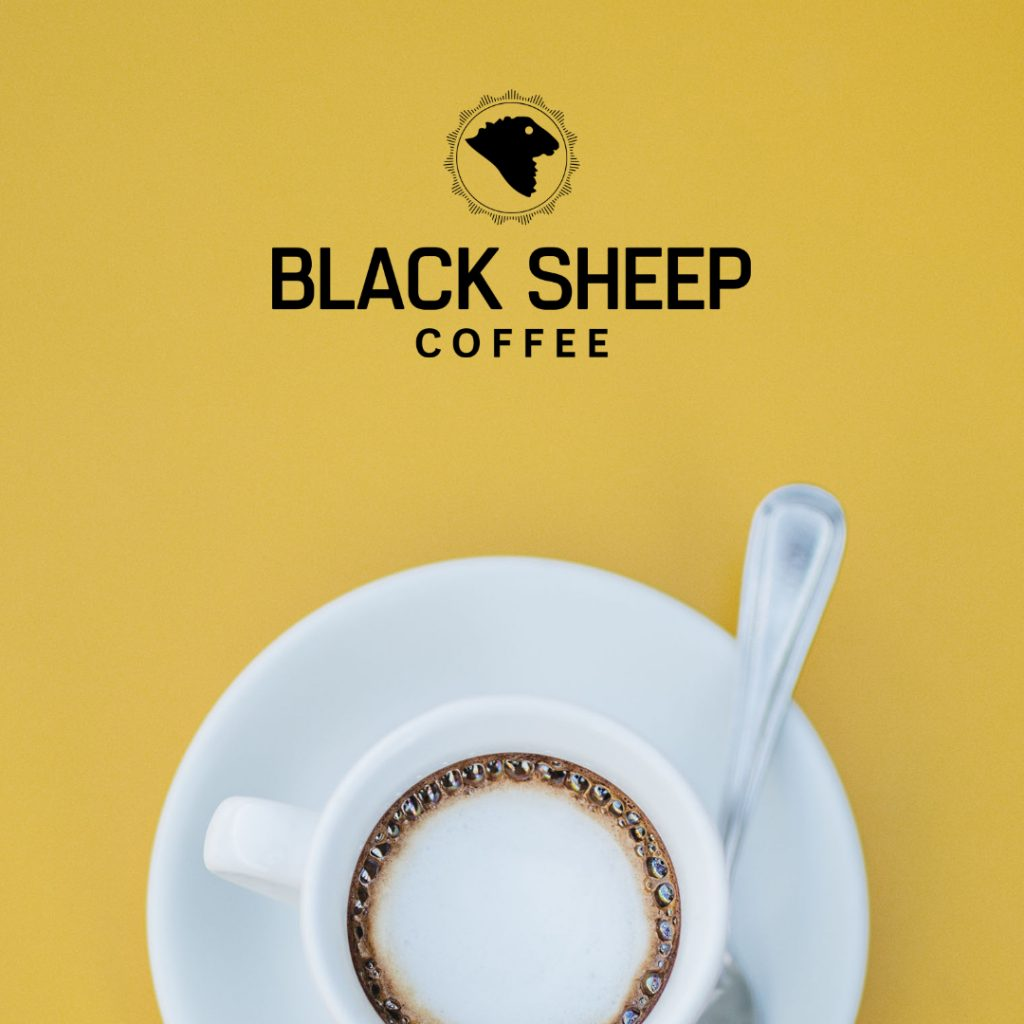 black logo example on poster