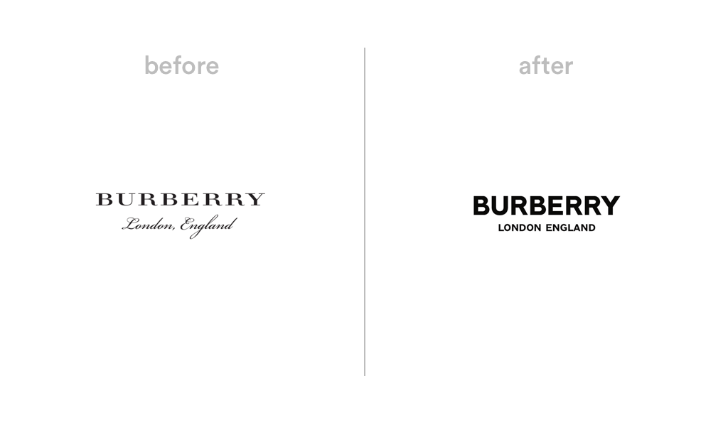 Burberry logo redesign
