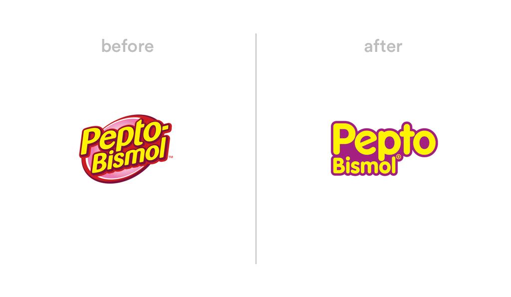 Pepto Bismol logo redesign