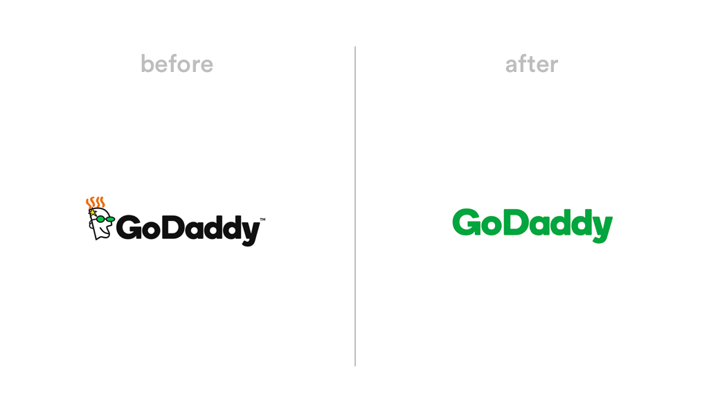 GoDaddy logo redesign